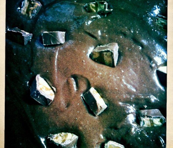 Kladdkaka med snickers